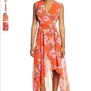 NWOT Eliza J Womens Floral Hi-Low Maxi Dress